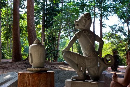 Angkor Wat statue reproductions