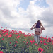 Girl in a field of poppies by Catalin_Pop