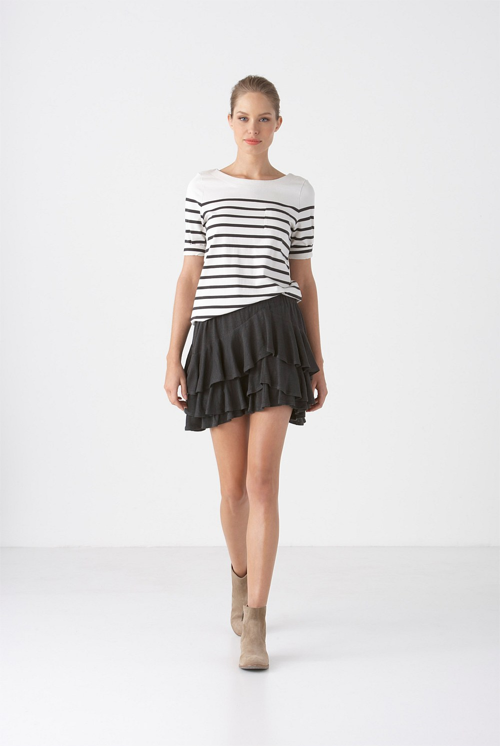 Country Road Bateau Stripe Top