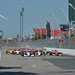 Jack Hawksworth leads the field into Turn 1 of the Honda Indy Toronto