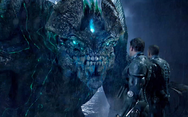 The humans are outmatched by alien monsters in 'Pacific Rim' -- OR ARE THEY?