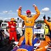 Charlie Kimball celebrates his victory in the Honda Indy 200 at Mid-Ohio