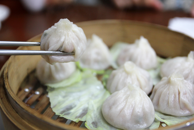Chinese soup dumplings (xiao long bao) in Bangkok