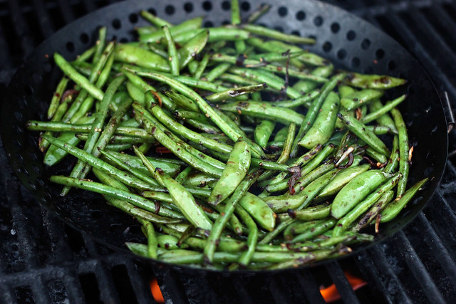 Grilled Asian Green Beans - Gluten-free + Vegan
