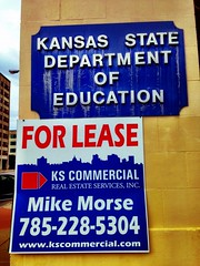 Kansas Department of Education ... is for Lease!Ok - not really. But. Signage placement is important, don't you think?