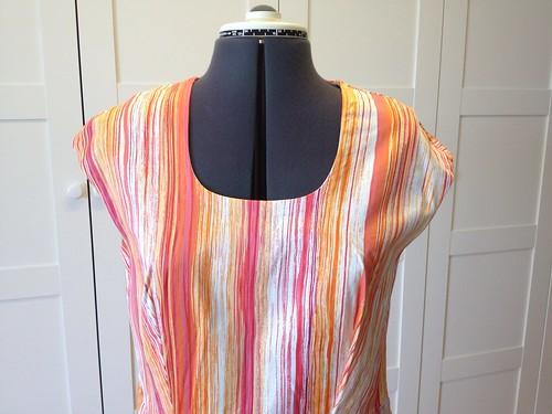 orange stripe Heidi bodice