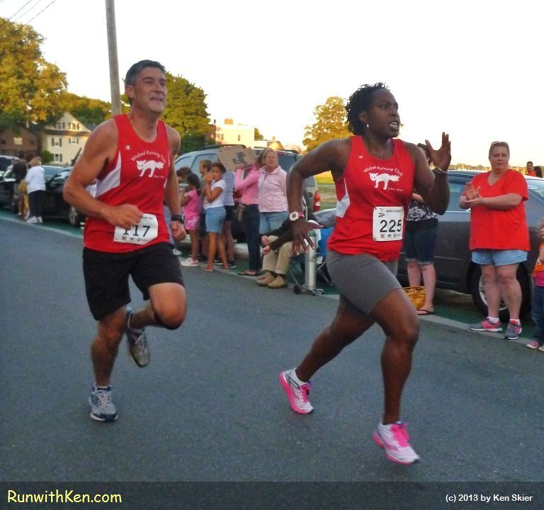 Ah!  The intensity of a Finish Line SPRINT!  Runners at the Derby Street Mile in Salem, MA. by runwithken