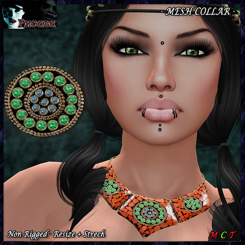 P MESH Aztec Collar ~Terra~