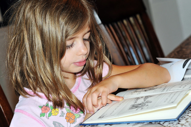 the 1st grader reading
