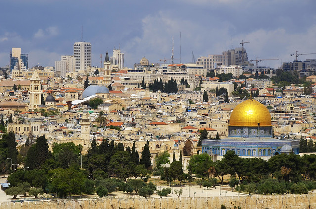 Jerusalén y su cúpula dorada, Israel
