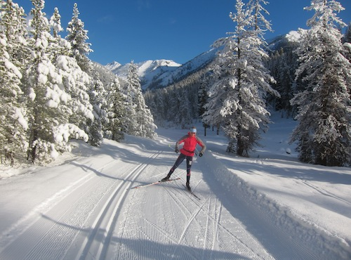 Cross country skiing at Galena Lodge