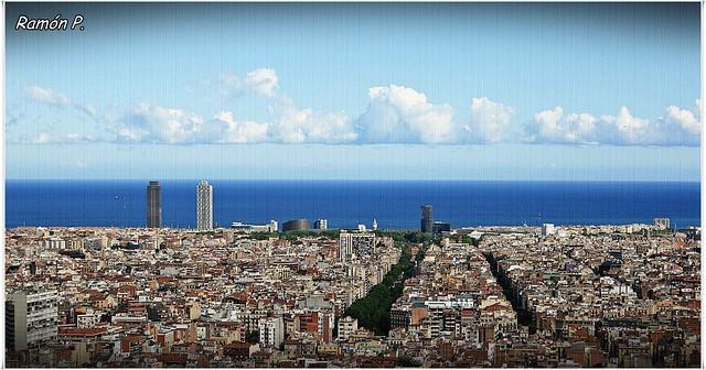 Un trocito de mi querida Barcelona en el dia festivo de La Merçe
