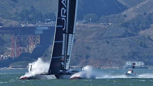 Oracle Team USA takes a dive