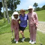 Trish with our caddies