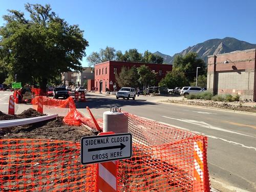 Post-flood repairs, Boulder