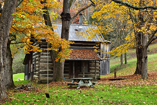 Fall Country Cabin