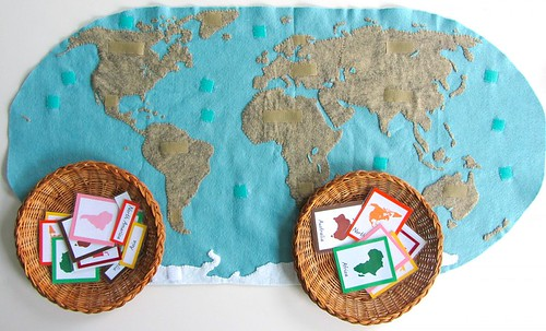 Montessori Continents Map (Photo from Imagine Our Life)