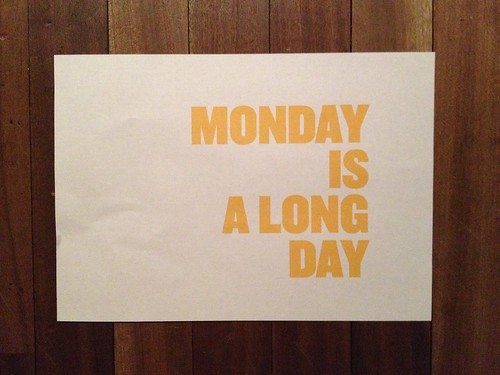 Day 45 - Monday is a long day