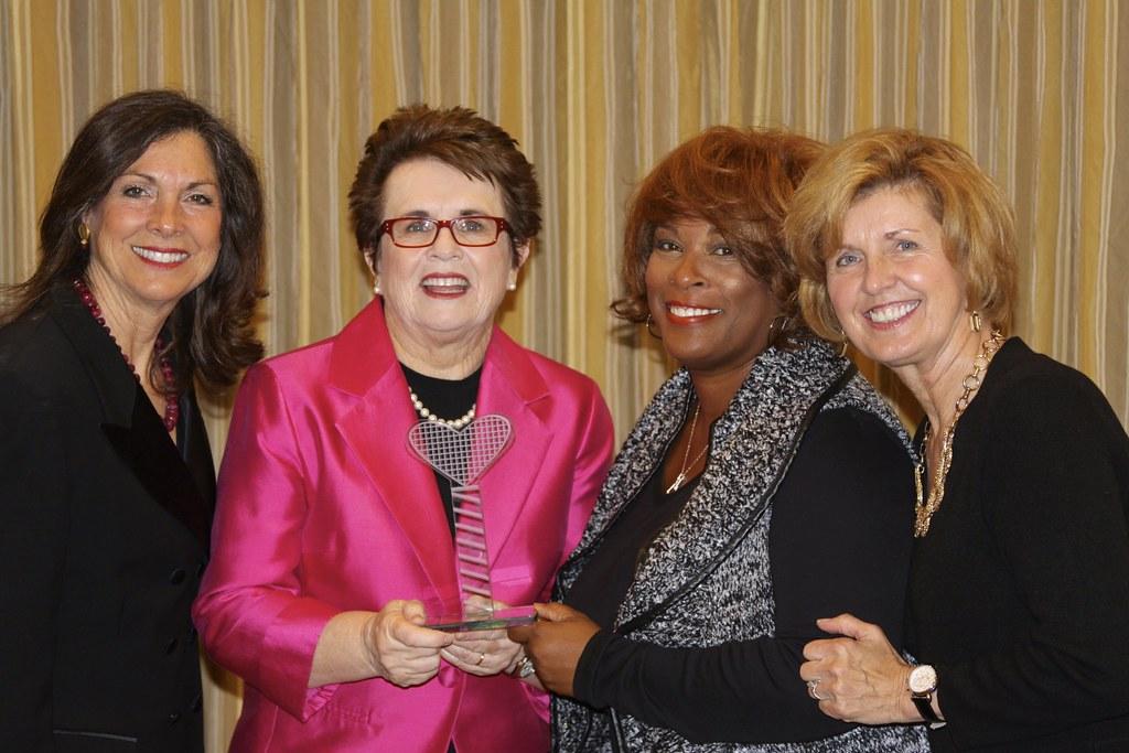Nancy Lerner, Billie Jean King, Zina Garrison, Linda Elliott