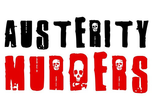 Αusterity murders - white background by Teacher Dude's BBQ
