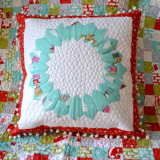 Cherry Christmas Wreath Cushion
