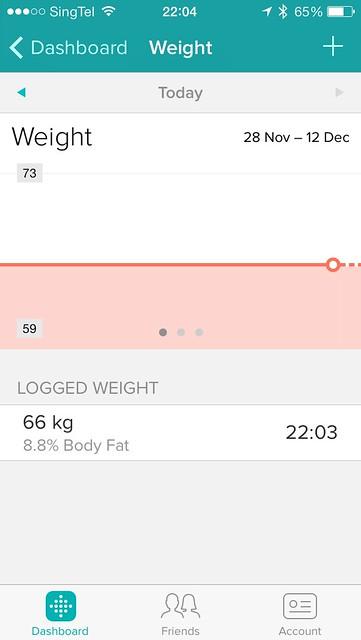 Fitbit Aria - iOS App (Weight)
