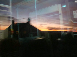 Sunrise in Ceredigion, seen from a bus