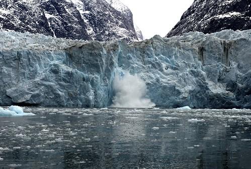 Glacier Chucking off Ice
