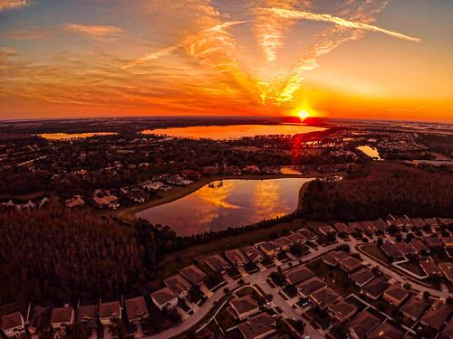 sunset day aerialphotography orlandofl goprohero3 pwpartlycloudy blade350qx