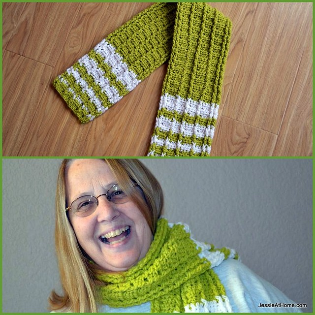 Raised-Stripes-Scarf-Free-Crochet-Pattern