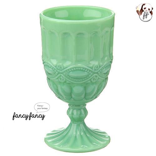 60.歐式仿古翠綠玻璃杯(四個一組)