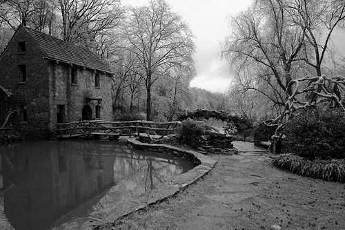 Old Mill pond in ice strom