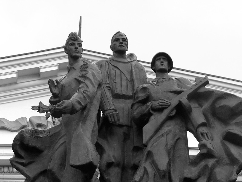 Monument to soldiers-motorists in MADI