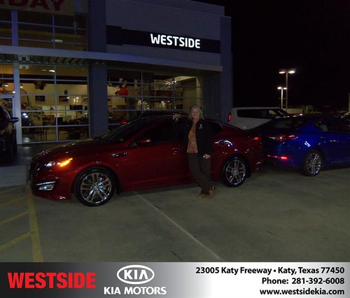 Happy Anniversary to Ruby Haley Williams on your 2013 #Kia #Optima from Suliveras Wilfredo and everyone at Westside Kia! #Anniversary by Westside KIA