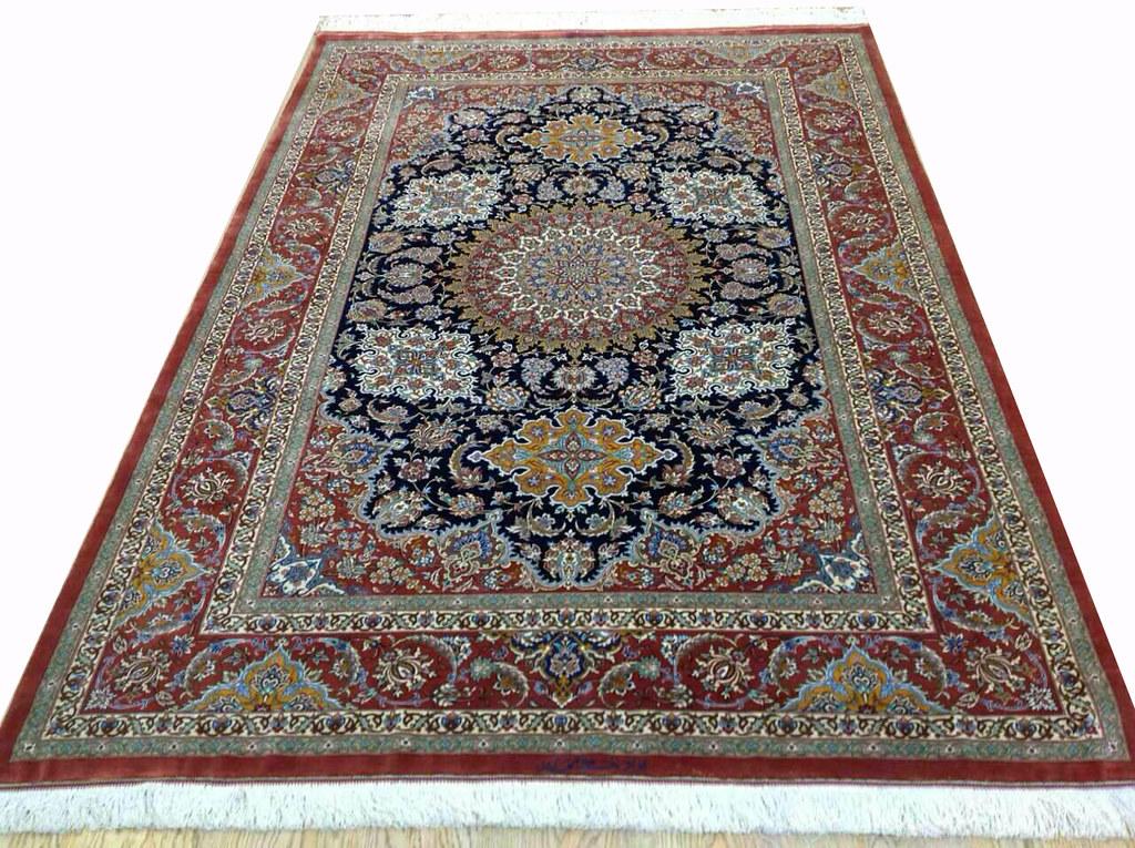 Qum Pure Silk Persian Rug Grand Master Mir Mehdiei 5x7 (2)