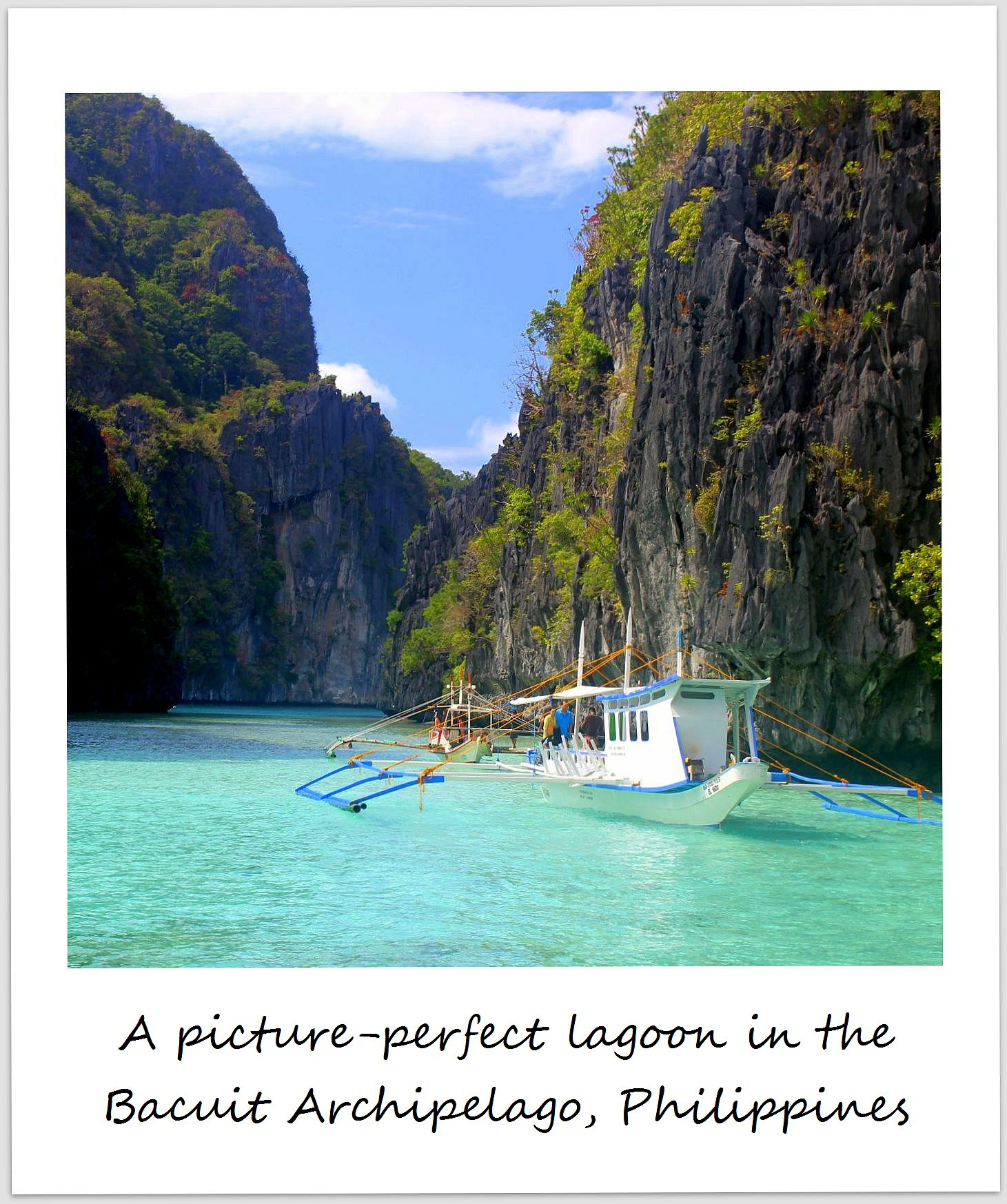 polaroid of the week philippines bacuit archipelago el nido palawan