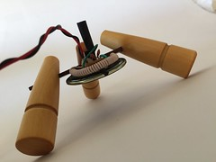 rarebeasts has added a photo to the pool:Part martian space craft, part synthesizer, the Clipsitron by Rarebeasts is a Theremin style musical instrument that uses a light sensor to make a large range of electronic sounds. This unit is so easy to play, all you need to do to change the frequency of the sound is wave your hand in front of the light sensor.