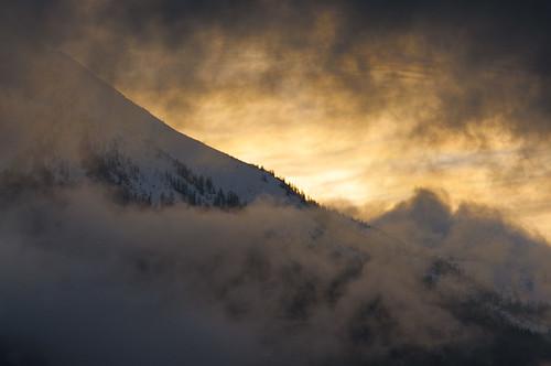 light sunset wild mist mountain snow alps clouds alpes landscape gold dusk swiss burning valais montagnes
