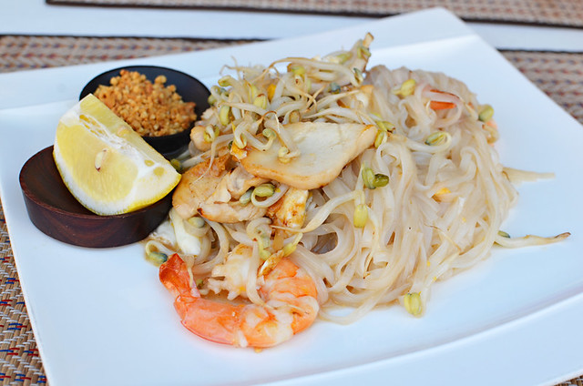 Fried noodles with prawns, Sawadee Ka, Thai restaurant, Puerto de la Cruz