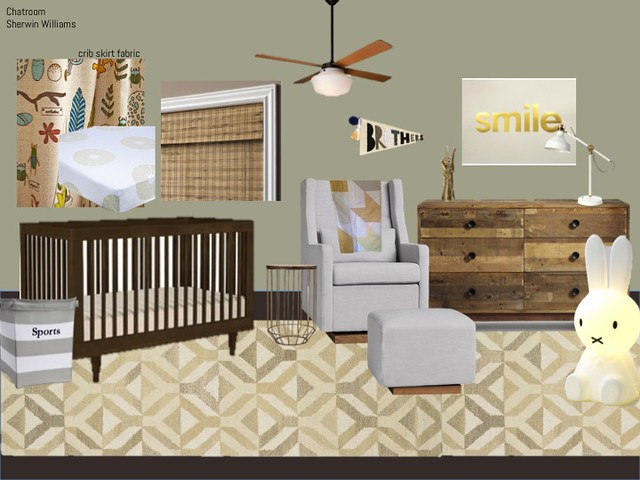Twin Boys Nursery Plan - First Try