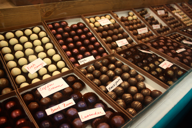 Chocolates at the Greenwich Market, Greenwich