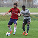Sean Okoli takes on Kyle Beckerman