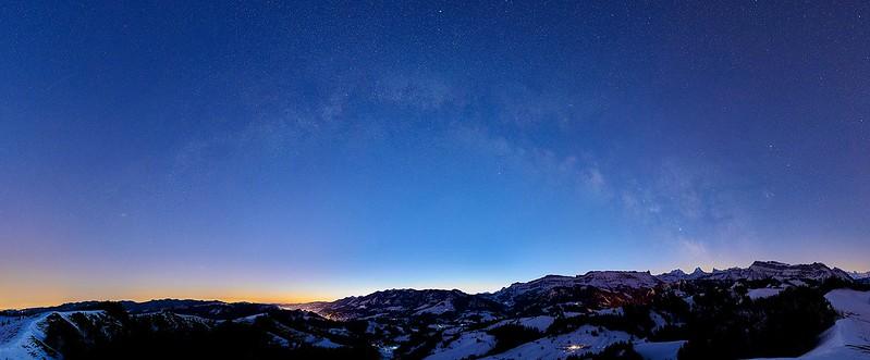 Milky Way over the Emmental - Rämisgummen