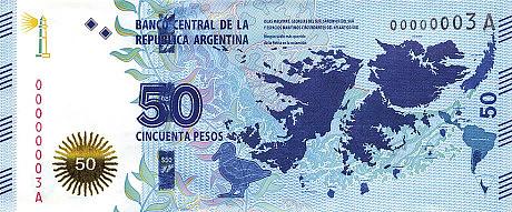 Argentina 50 Peso banknote