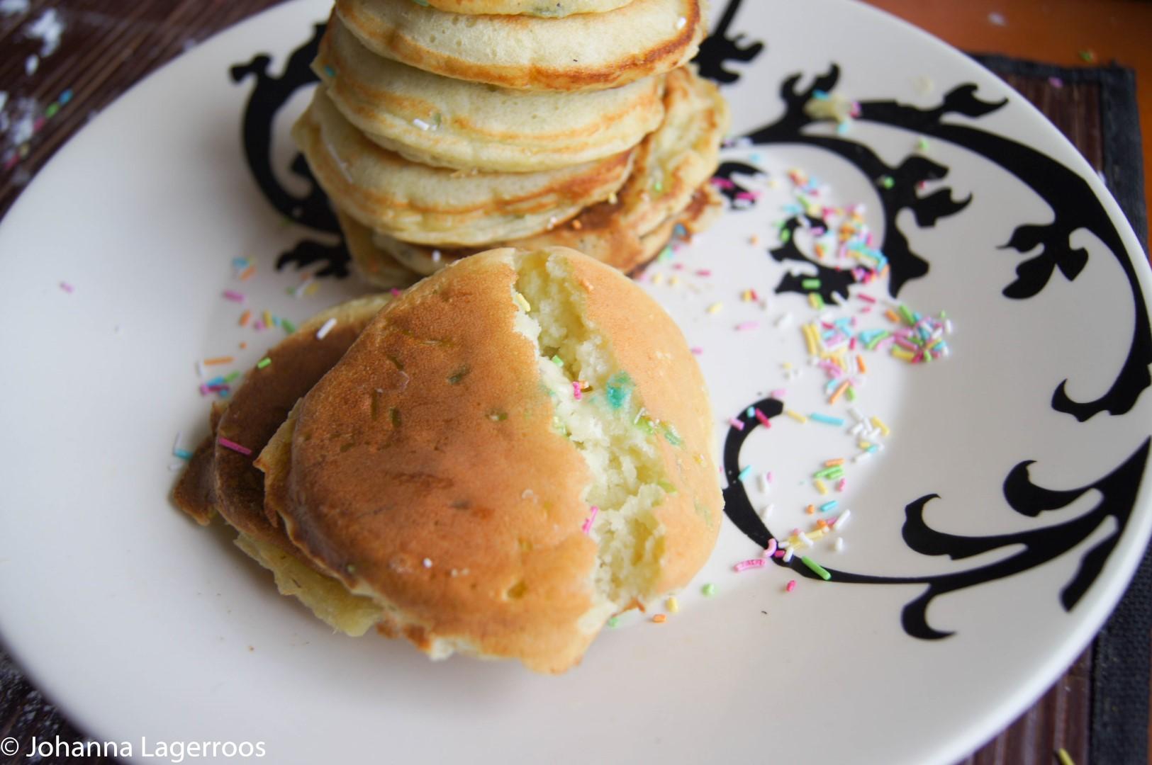 Sprinkle pancakes gf