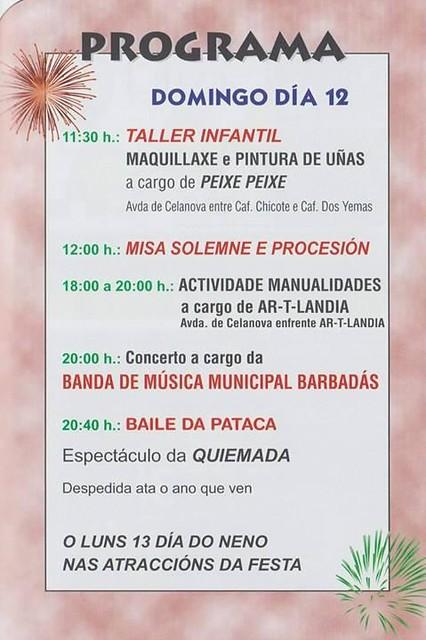 Barbadás 2016 - Festas de San Bernabé de Valenzá - cartel 4