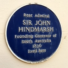 Photo of John Hindmarsh blue plaque