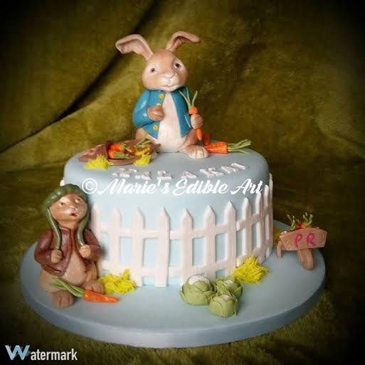 Peter Rabbit and Benjamin Bunny Cake by Marie Neville Smith