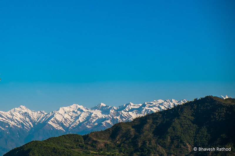 Himalayas from Mukku Village, Uttarakhand