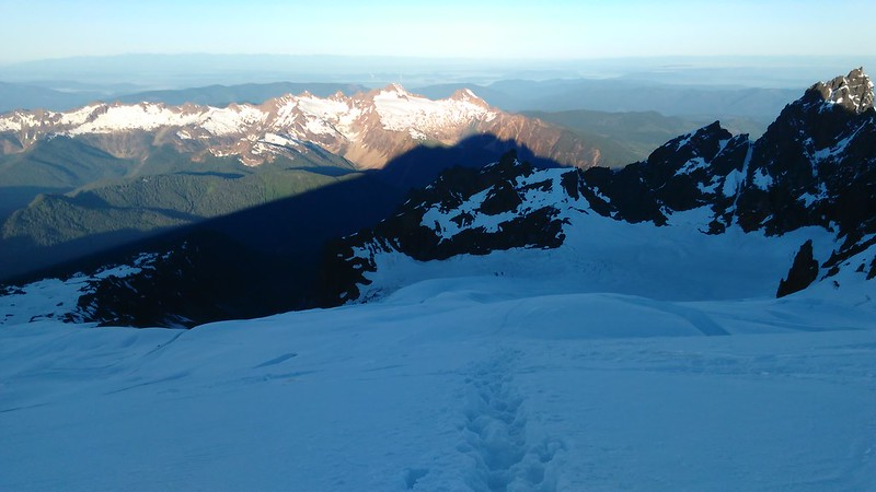 Mt Baker's shadow on nearby peaks